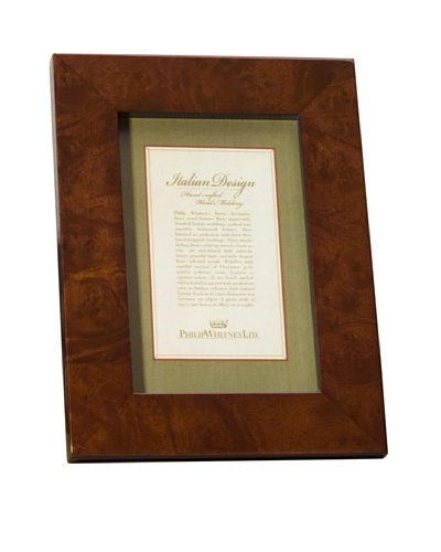 Philip Whitney Light Burl Wood Frame