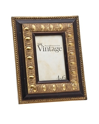 Philip Whitney Vintage Brown/Gold 4x6 Frame