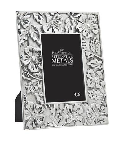 """Philip Whitney Aluminum Flower 4""""x6"""" Frame"""