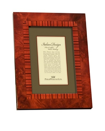 Philip Whitney Red Marquetry Inlay Frame