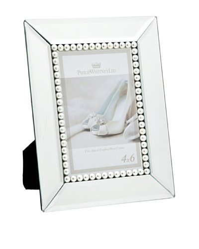 """Philip Whitney Mirror & Faux Pearl 4""""x6"""" Frame"""