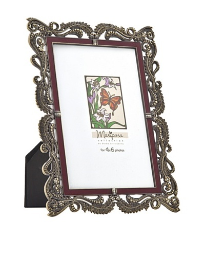 Philip Whitney Mariposa Bronze & Red Enamel 4x6 Frame
