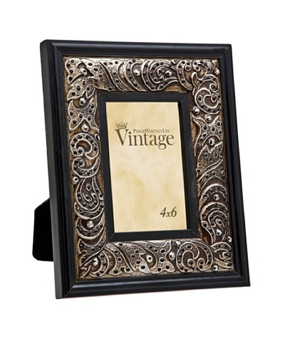 Philip Whitney Black Jewel & Enamel 4x6 Frame