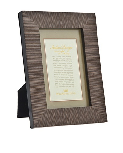 Philip Whitney Fine Brown Grain Marquetry Frame