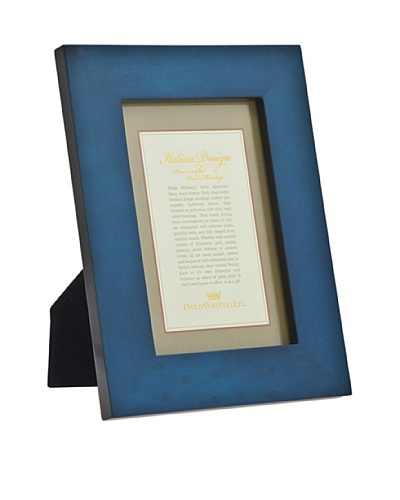 Philip Whitney Blue Burl Marquetry 5x7 Frame