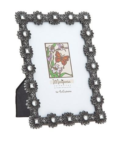 Philip Whitney Mariposa Pewter Sunburst 4x6 Frame