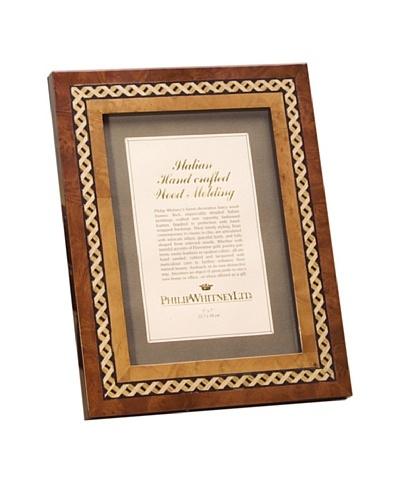 """Philip Whitney X Design Marquetry Inlay 4""""x6"""" Frame"""