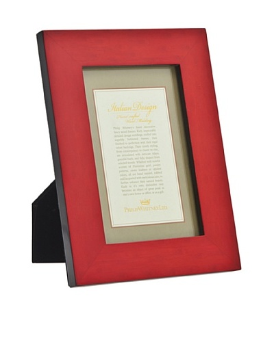 Philip Whitney Red Burl Marquetry 5x7 Frame