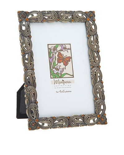 Philip Whitney Mariposa Antique Bronze Weave 4x6 Frame