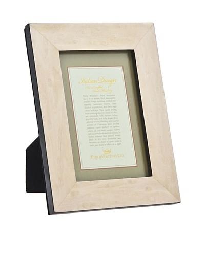 "Philip Whitney Cream Burl Marquetry 5""x7"" Frame"