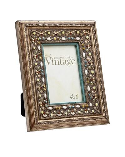 Philip Whitney Jewel Turquoise Enamel 4x6 Frame
