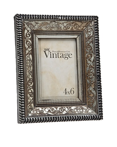 Philip Whitney Vintage Silver Scroll 4x6 Frame