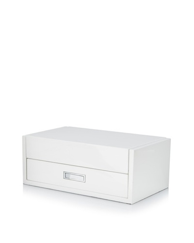 Philippi Lack Jewelry Box, White