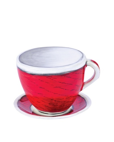 Phillips Collection Large Coffee Cup & Saucer, Red/White