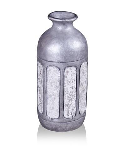 Phillips Collection Ceramic Vase, New Silver/White