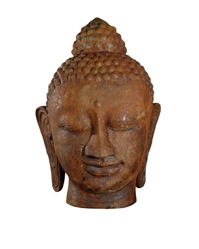 Phillips Collection Colossal Thai Buddha Head, Copper