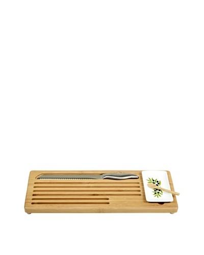 Picnic at Ascot Bread and Dip Board Set, Bamboo