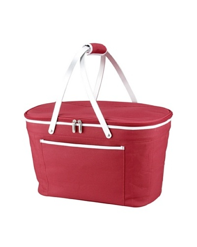 Picnic at Ascot Collapsible Basket Cooler [Red]