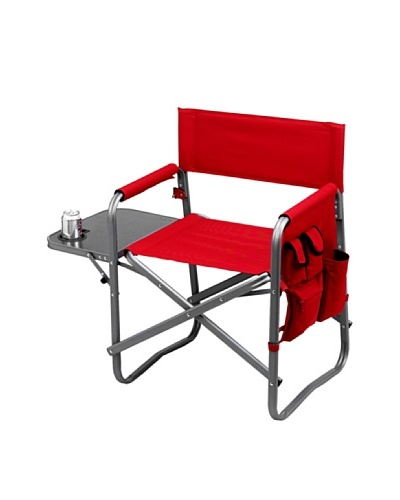 Picnic at Ascot Folding Director's Chair with Table [Red]