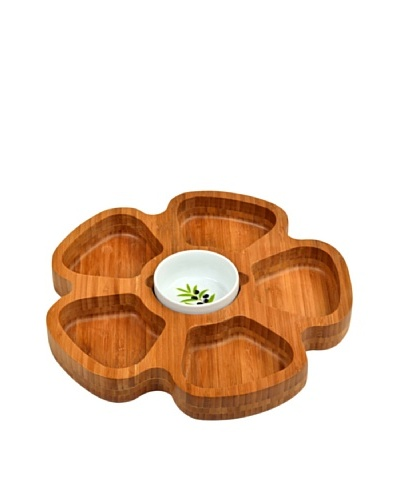 Picnic at Ascot Petal Serving Tray, Bamboo