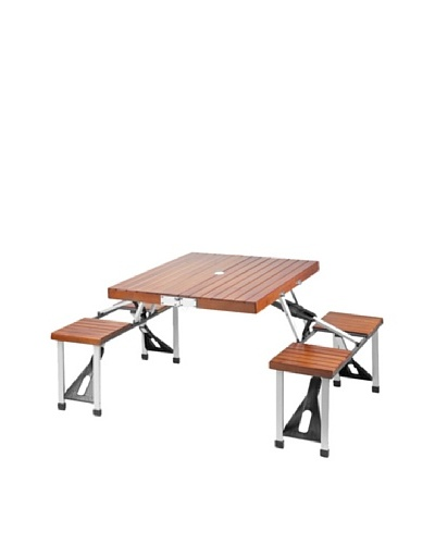 Picnic at Ascot Portable Picnic Table Set [Medium Brown]
