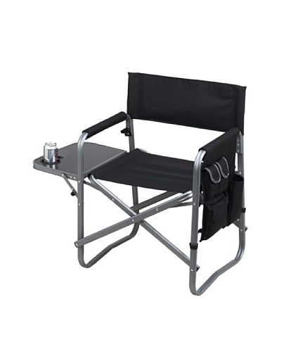 Folding Directors Chair With Table & Organizer