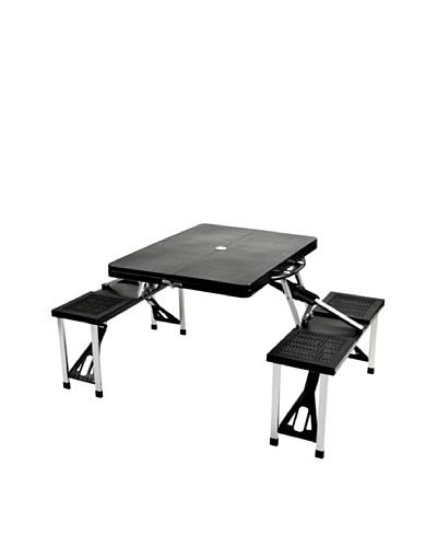 Picnic at Ascot Portable Picnic Table Set [Black]