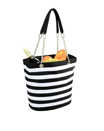 Picnic at Ascot Insulated Cooler Tote [Black/White]