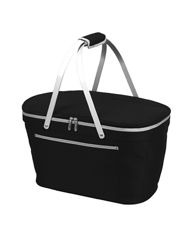 Picnic at Ascot Collapsible Basket Cooler [Black]