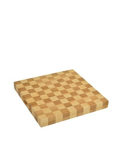 Picnic at Ascot Square Checkered Chop Board, Natural