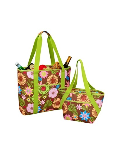 Picnic at Ascot Large & Small Insulated Cooler Tote Set [Floral]
