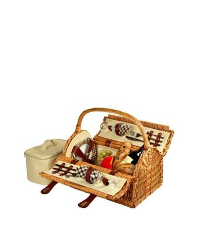 Picnic at Ascot London Plaid Sussex Picnic Basket for Two