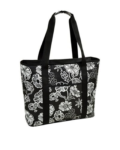 Picnic at Ascot Large Cooler Tote, Night Bloom