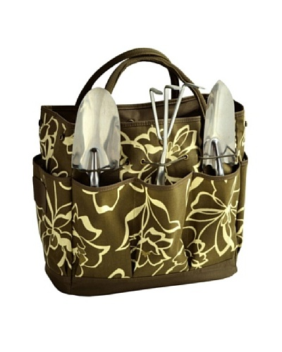 Picnic at Ascot Floral Gardening Tote Set, Olive Floral