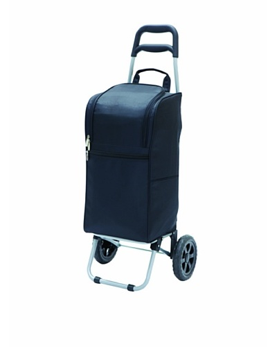 Picnic Time Insulated Cart Cooler with Wheeled Trolley