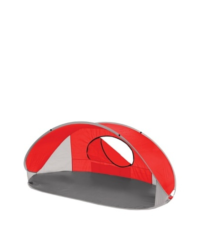 Picnic Time Manta Portable Pop-Up Sun/Wind Shelter [Red]
