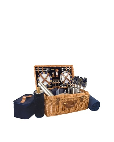 Picnic Time Windsor Picnic Basket, Service for 4