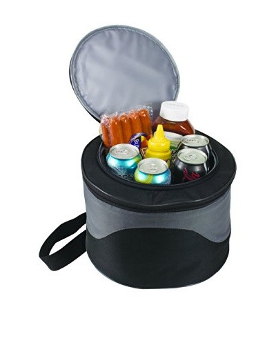 Picnic Time Caliente Portable BBQ Grill/Cooler Set, Black Grey