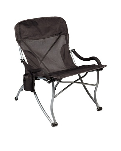 Picnic Time PT-XL Portable Extra-Wide Camp Chair, Black
