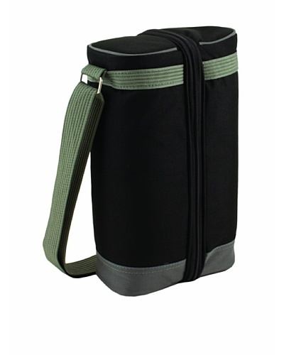 Picnic Time Estate Insulated Wine Tote with Service for 2 [Black/Gray]