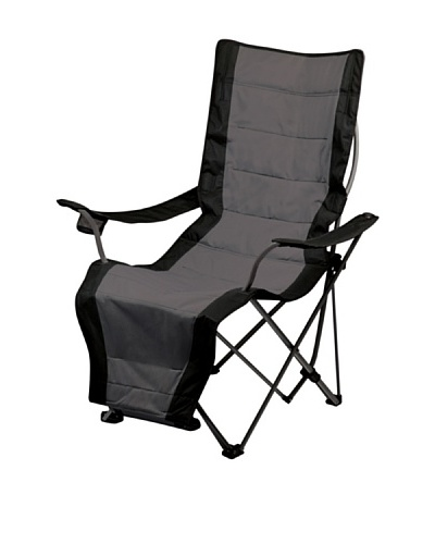 Picnic Time Portable Lounger Reclining Chair [Black]
