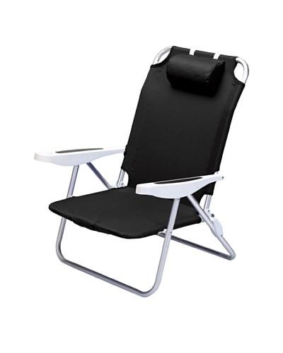 Picnic Time Monaco Folding Beach Chair [Black]