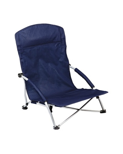 Picnic Time Tranquility Portable Folding Beach Chair, Navy