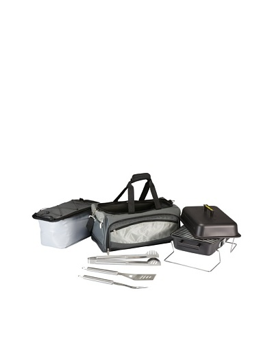 Picnic Time Buccaneer All-In-One Tailgating BBQ Grill/Cooler Set [Grey]