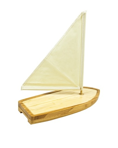 Picnic Time Bamboo Sailboat Cheese Board and Tool Set