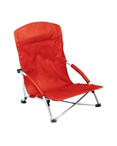 Picnic Time Tranquility Portable Folding Beach Chair, Red