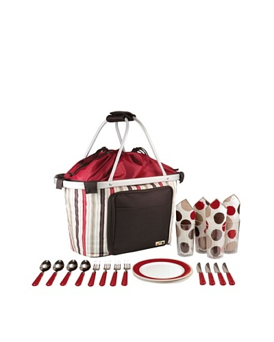 Picnic Time Metro Melrose Picnic Basket with Service for 4