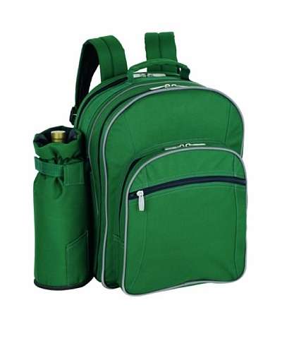 Picnic Time Sorrento Insulated Cooler Backpack with Picnic Service for Four