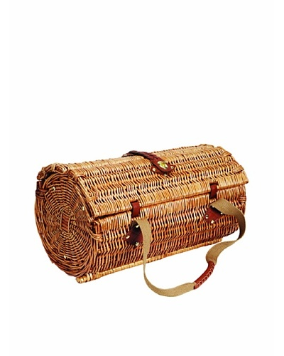 Picnic Time Verona Insulated Wine Basket with Wine/Cheese Service for Two