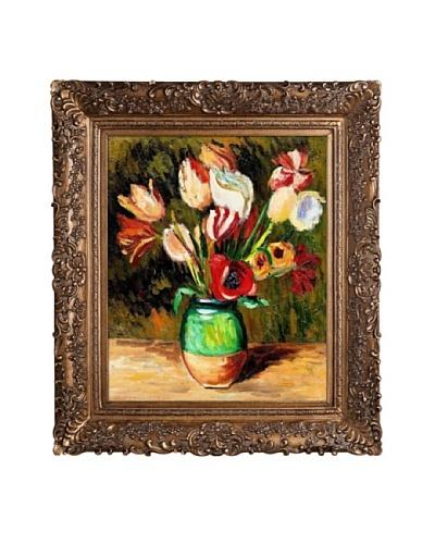 Pierre Auguste Renoir Tulips in a Vase